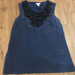 J. Crew Navy and Black Blouse